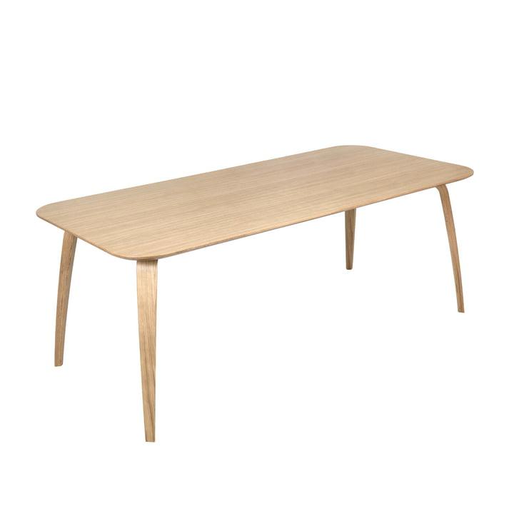 Rektangulært spisebord 100 x 200 cm af Gubi i eg
