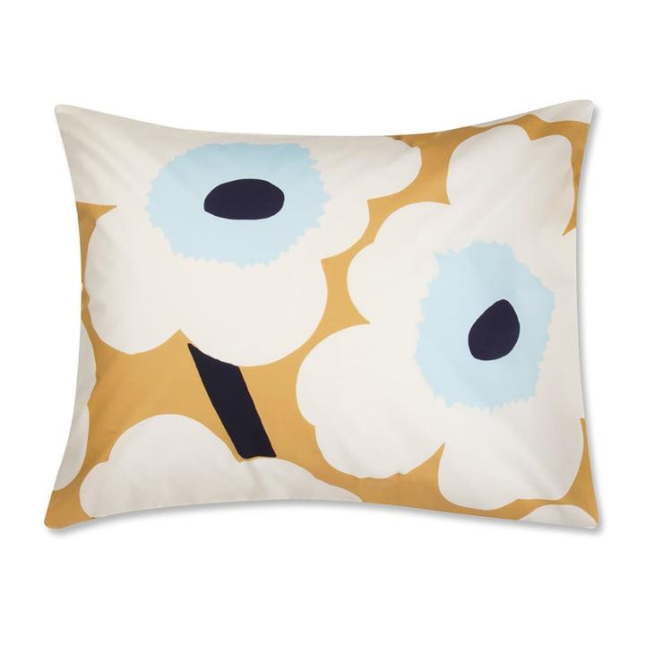 Marimekko – Unikko pudebetræk 65 x 65 cm by Marimekko, hvidt / beige / blåt