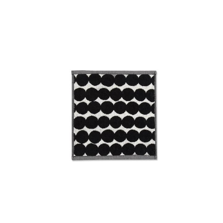 Räsymatto minihåndklæde på 25 x 25 cm fra Marimekko i sort