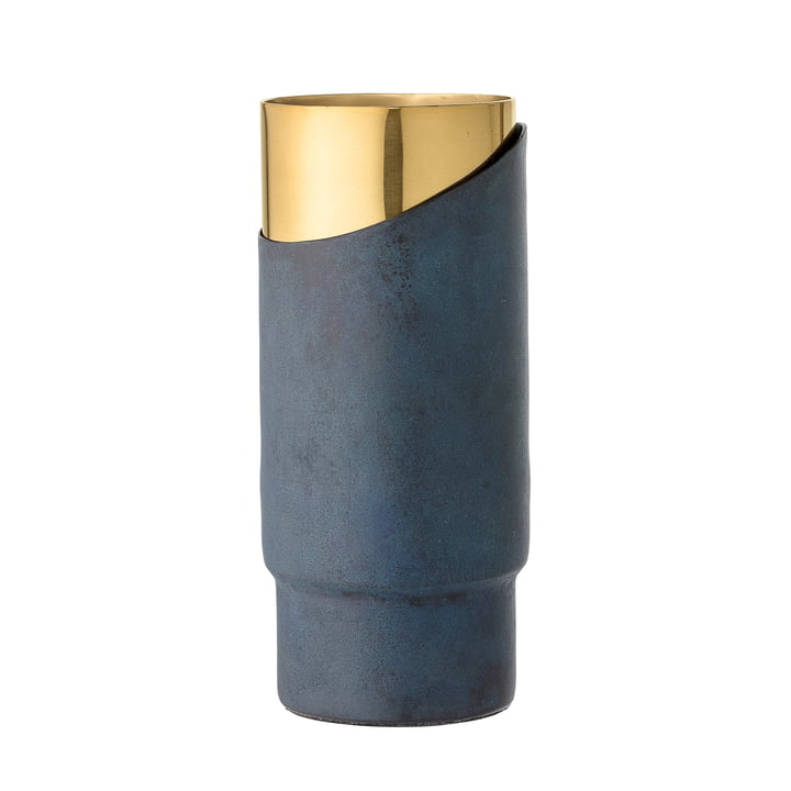 Bloomingville – metalvase, H 23 cm, blå