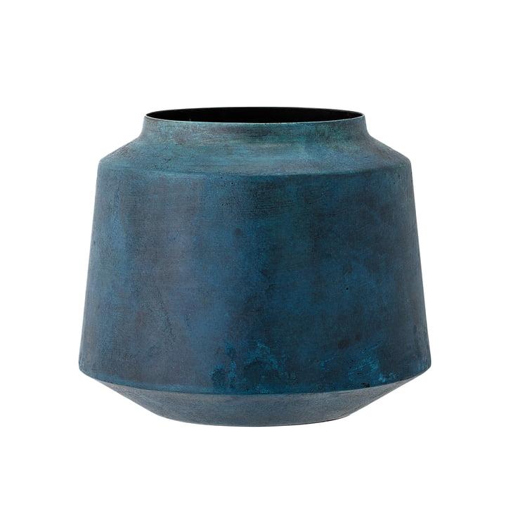 Bloomingville – metalvase, H 15 cm, blå