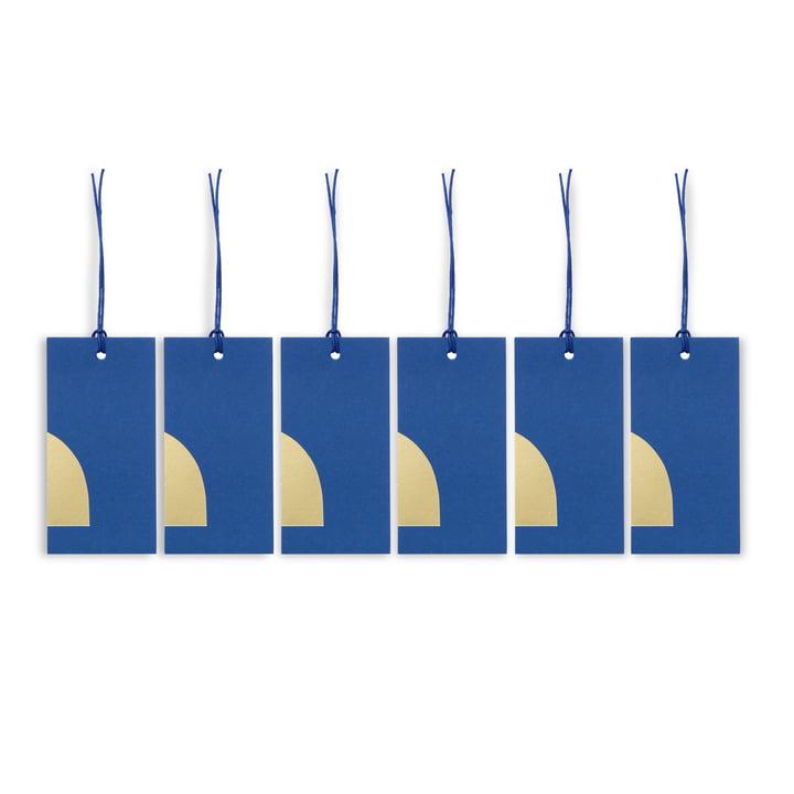 ferm Living - Art gavemærke, blå (sæt med 6 stk.)