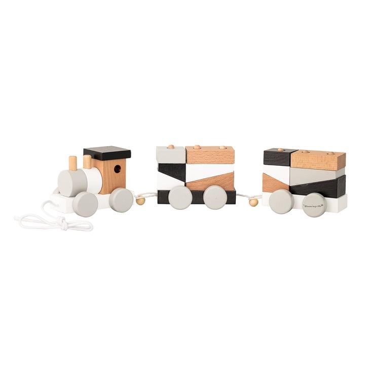 Tog med 2 vogne og blokke fra Bloomingville i sort/hvid/grå