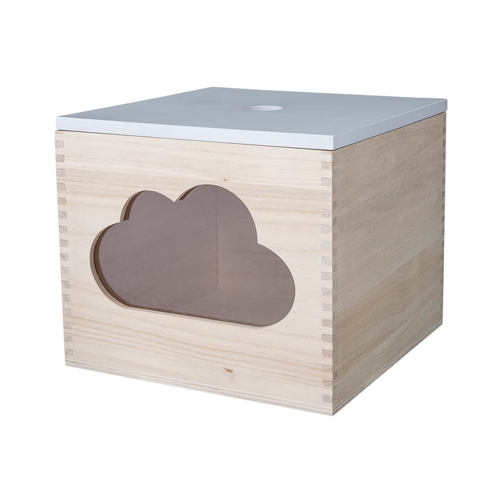 Bloomingville – legetøjskasse, Cloud, hvid/naturfarvet