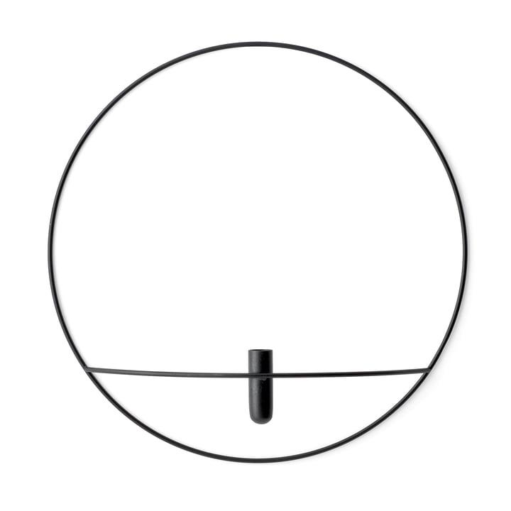 Pov Circle Vase L fra Menu i sort