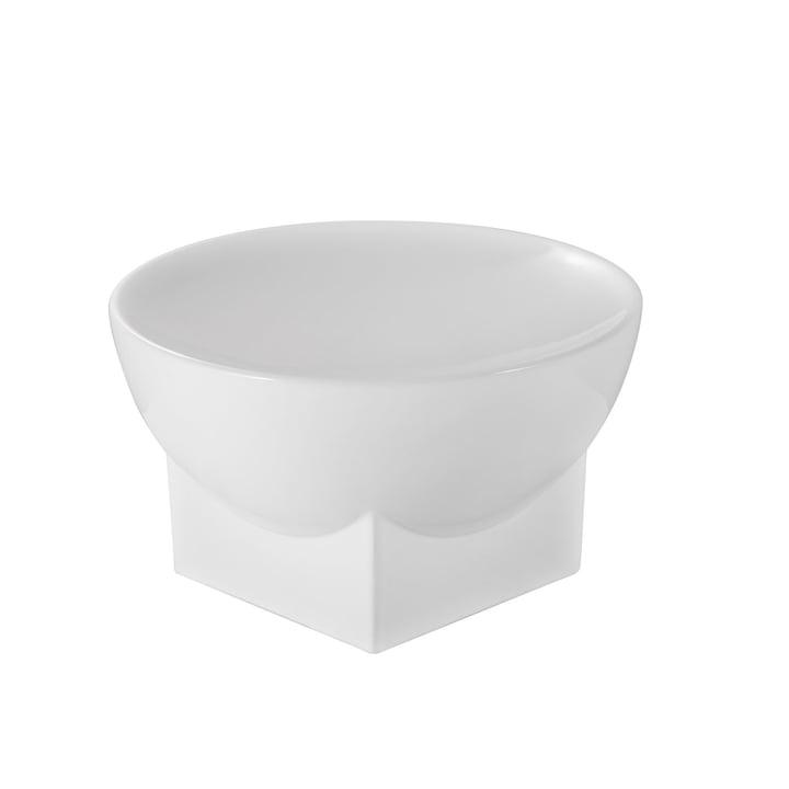 Mila skål, stor, H 16 x Ø 28 cm fra Pulpo i hvid