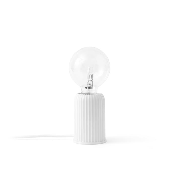 Fitting #3 bordlampe, hvid fra Lyngby Porcelæn