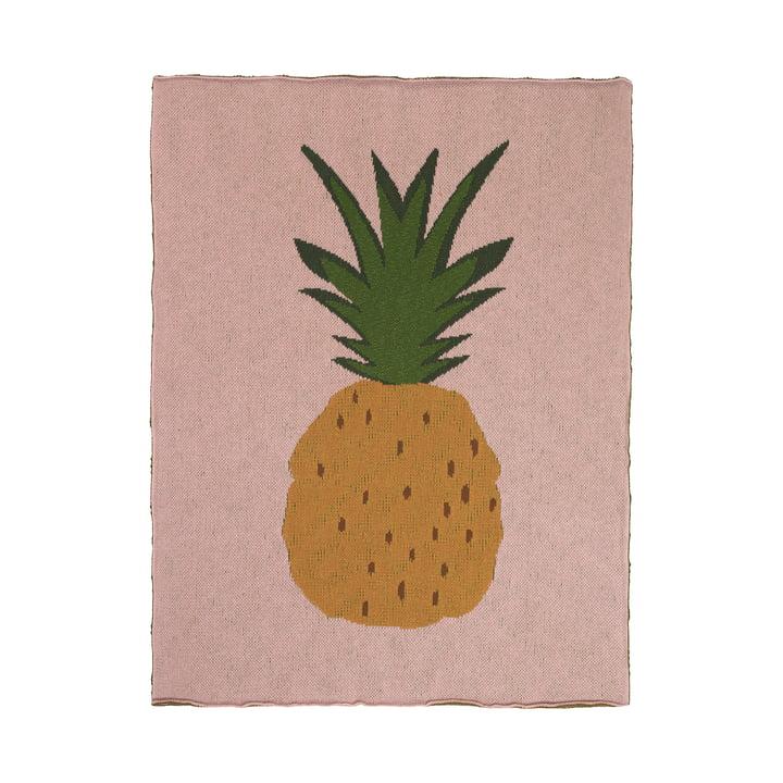 Fruiticana børnetæppe 80 x 100 cm fra ferm LIVING, ananas