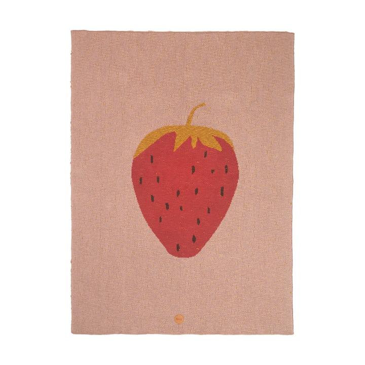 Fruiticana børnetæppe 80 x 100 cm fra ferm LIVING, jordbær