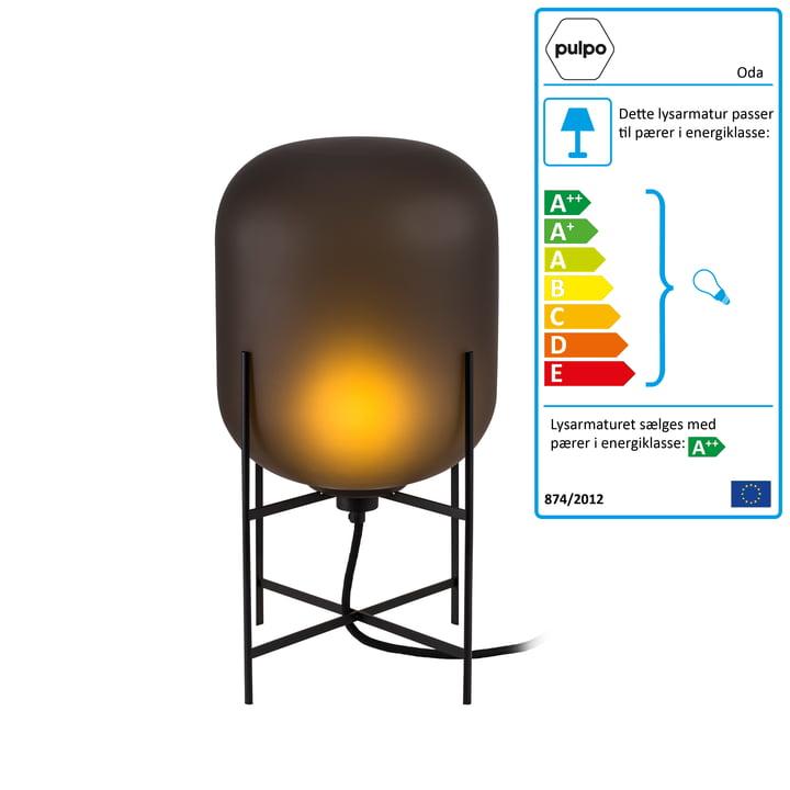 Pulpo - Oda lampe small, smoky grey acetato / stel sort