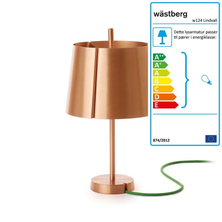 Wästberg – w124 bordlampen i kobber