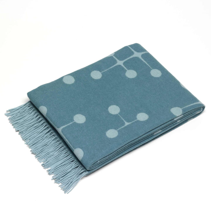 Vitra - Eames uldtæppe, prikmønster, lyseblå