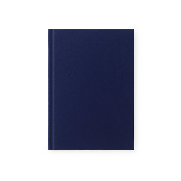 Normann Copenhagen – Notesbog i velour i lille/mørkeblå