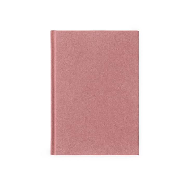 Normann Copenhagen – Notesbog i velour, lille, lyserød
