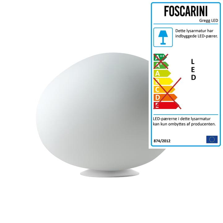 Foscarini – Gregg LED-bordlampe, medium/hvid