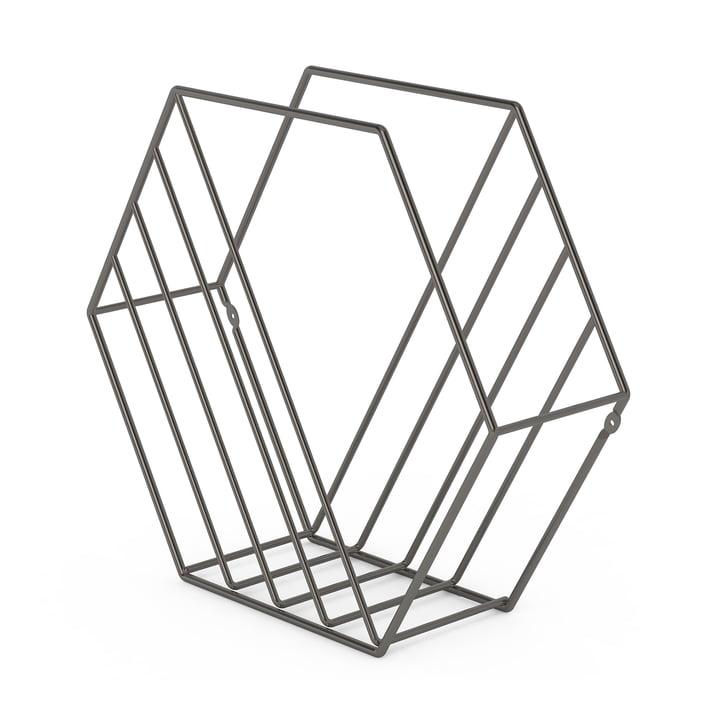 Zina magasinholder fra Umbra med titaniumfinish