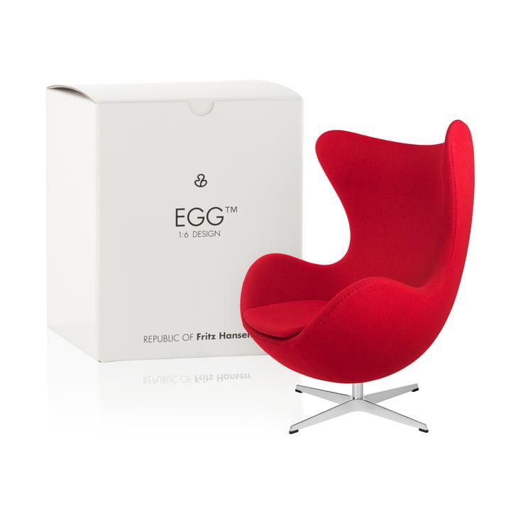 Fritz Hansen - Miniature Ægget lænestol, rød