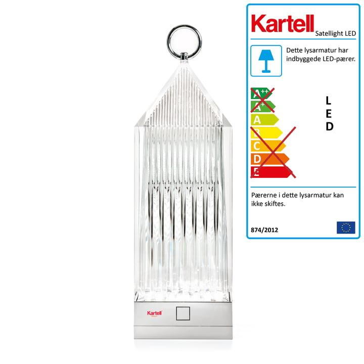 Kartell – Lantern LED-lampe, klart glas