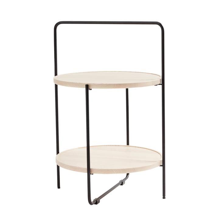 Andersen Furniture - sidebord Ø 46 cm, sort / naturlig ask