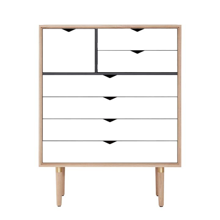 Andersen Furniture – S8 kommode, sæbebehandlet eg / hvid front