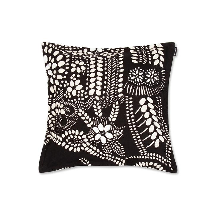 Näsiä pudebetræk på 40 x 40 cm fra Marimekko i sort/hvid