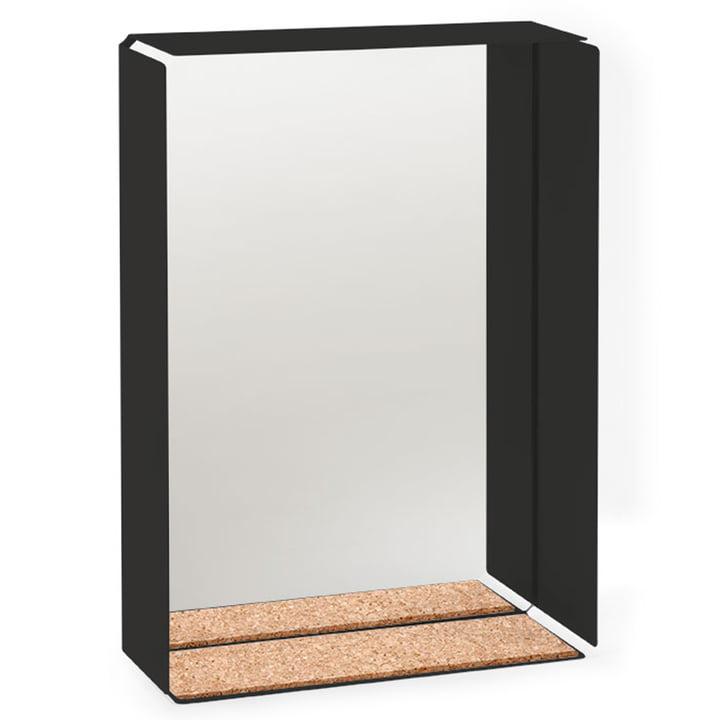 Konstantin Slawinski – Mirror Box spejl, sort ramme / kork