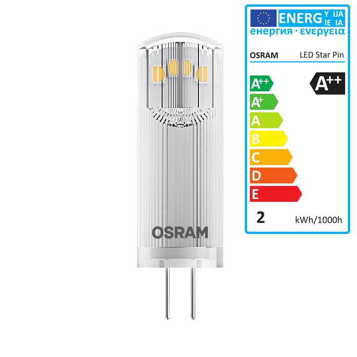 Osram – Star Pin 20 LED-pære, G4 / 12 V, 1,8 W, varm hvid
