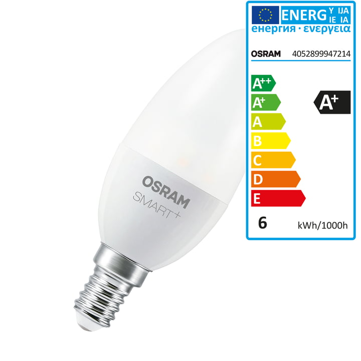 SMART+ LED Classic B 40 (E14 / 6 W) fra Osram