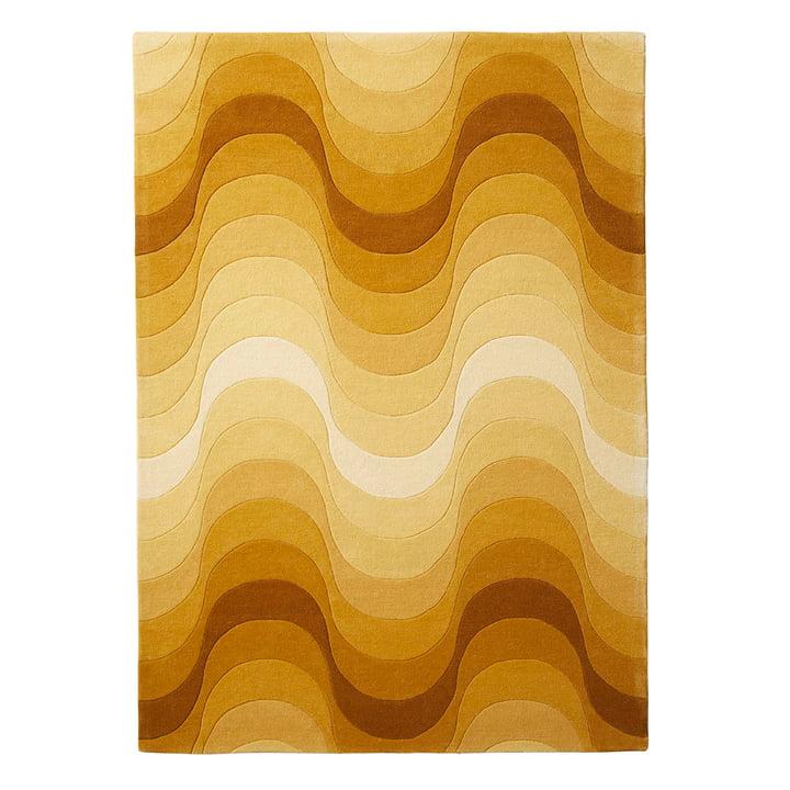 Verpan – Wave tæppe, 240 x 170 cm i gul