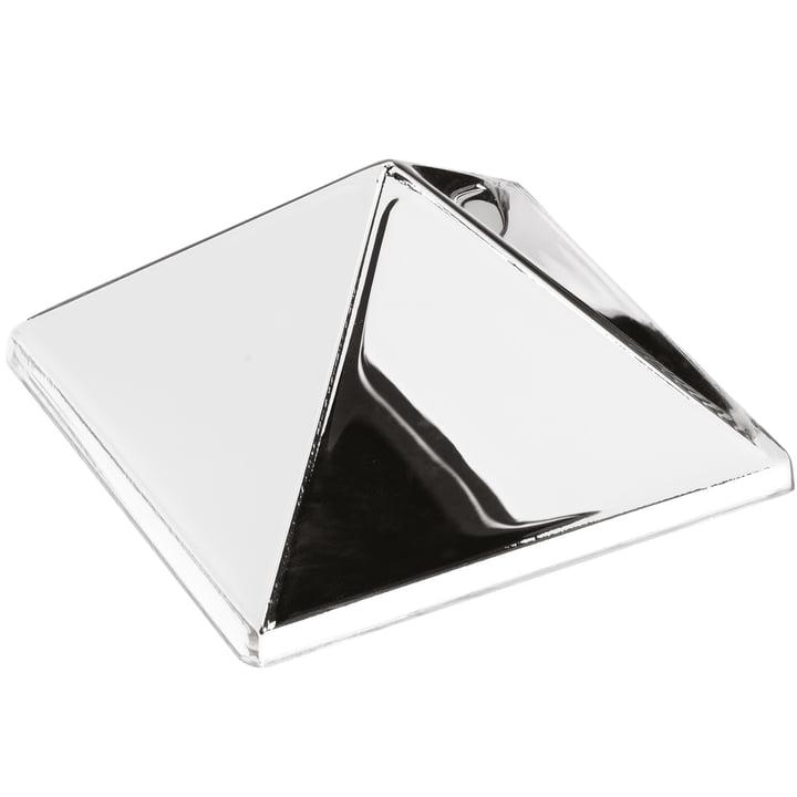 Verpan – Mirror skulpturer, 1 pyramide, sølv/spejl