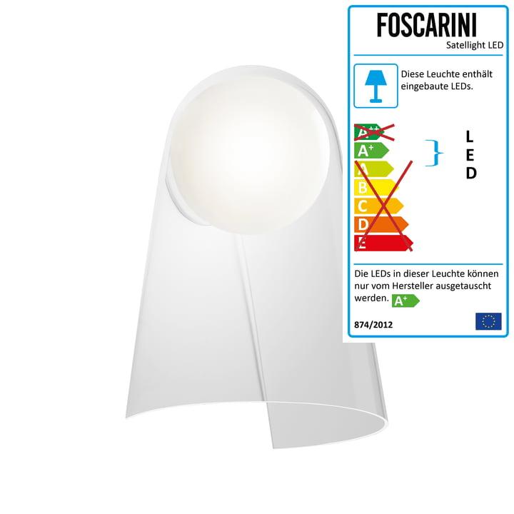 Satellight LED af Foscarini i hvid / gennemsigtig