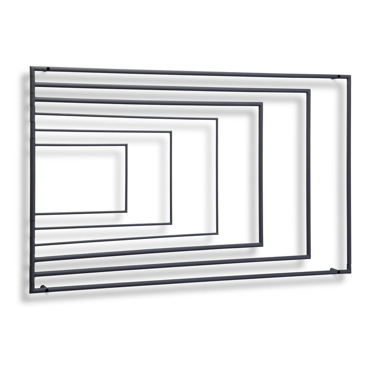 Northern – Frame vægmonteret tørrestativ, mørkegrå