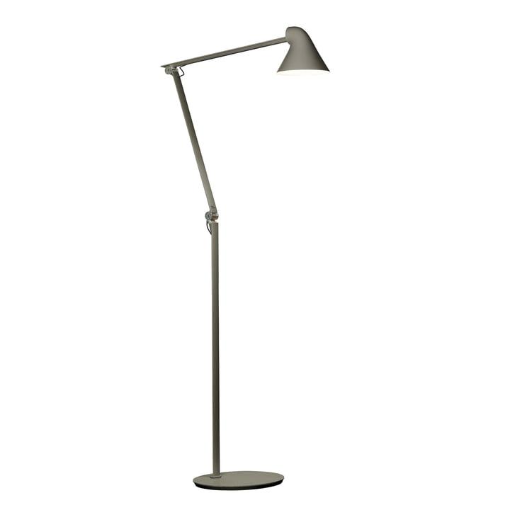 Louis Poulsen - NJP LED gulvlampe i mørkegrå aluminium