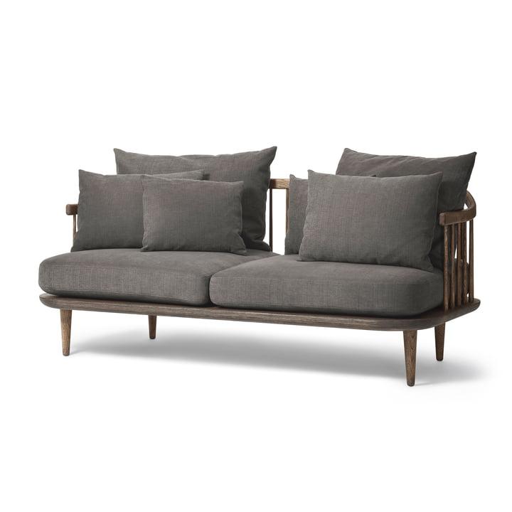 & Tradition – FLY 2-personers sofa SC2, stel i røget eg/Hot Madison 093