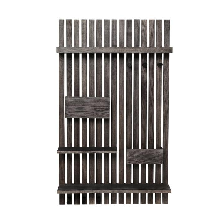 Wooden Multi Shelf væghylde fra ferm LIVING i sortbejdset asketræ