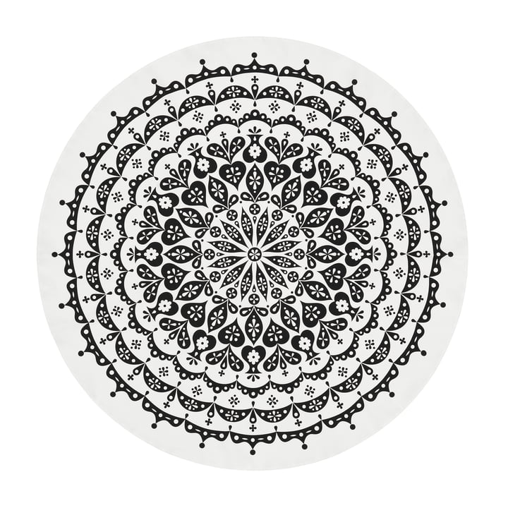 Vitra - dug Ø 130 cm, blonder / sort