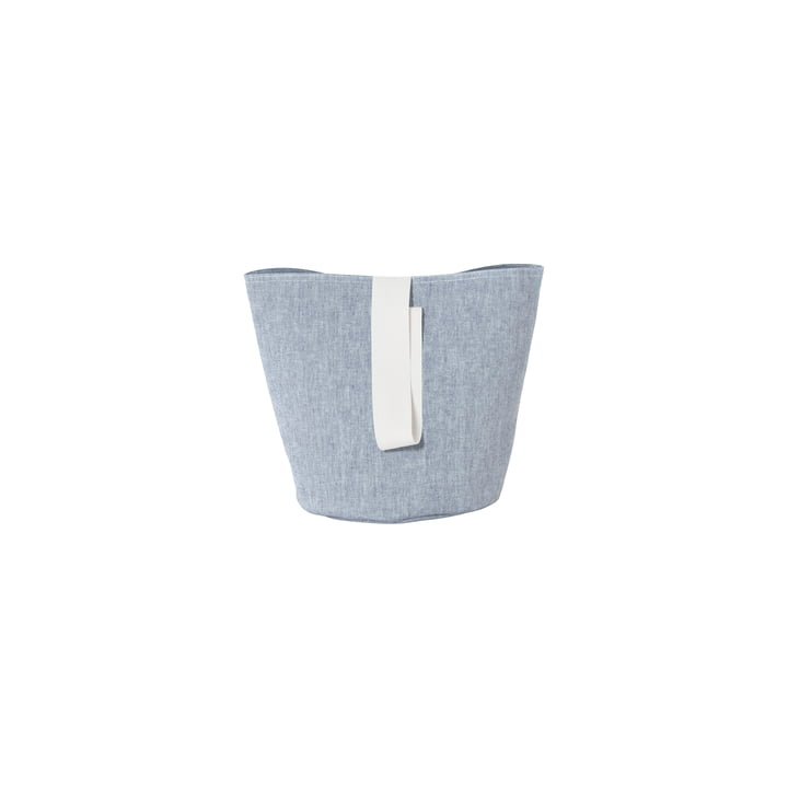 Chambray Basket Small by ferm Lever i blå