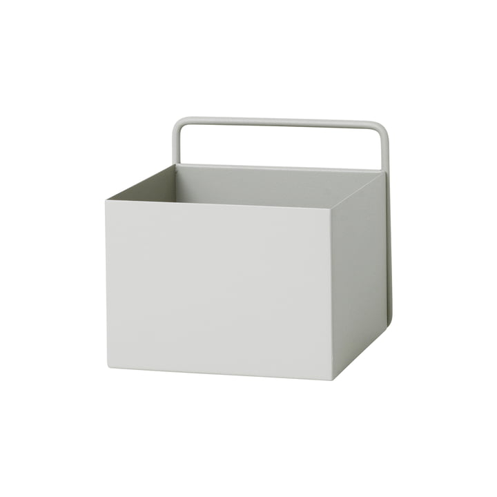 Wall Box firkantet af ferm Bor i lysegrå