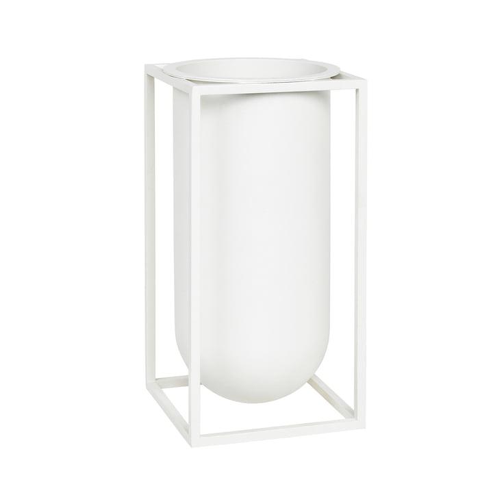 Kubus Vase Lolo fra by Lassen i hvid