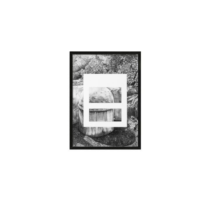Silhouette plakat A5, 21,5 x 14,8 cm fra by Lassen i grå