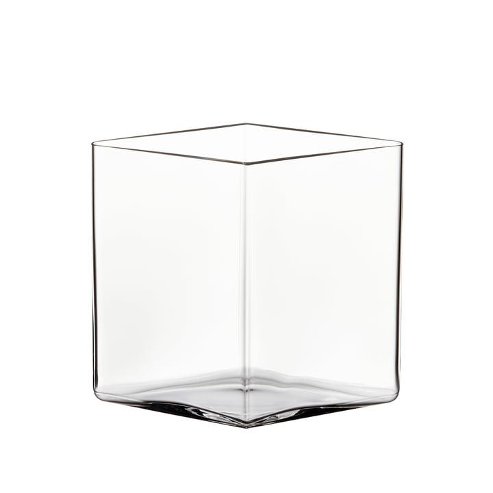 Ruutu vase 205 x 180 mm af Iittala i klar