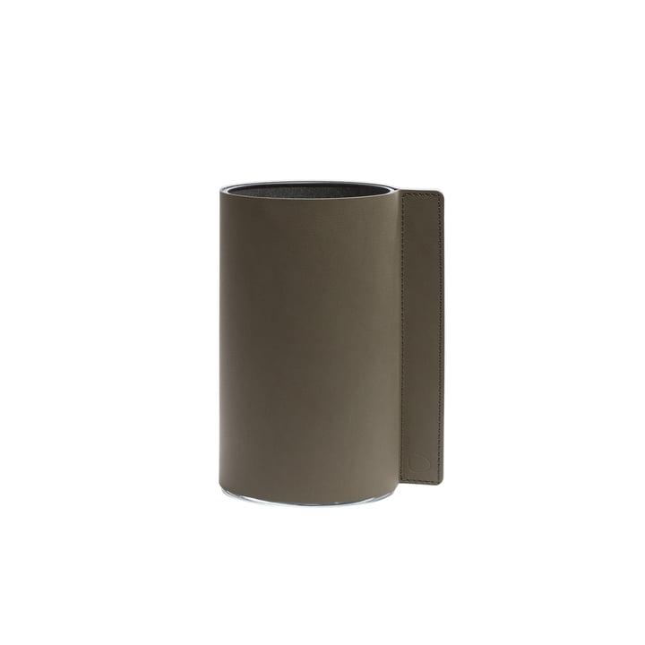 Block Vase M, Ø 11 x 20 cm fra LindDNA, army green Nupo/glas
