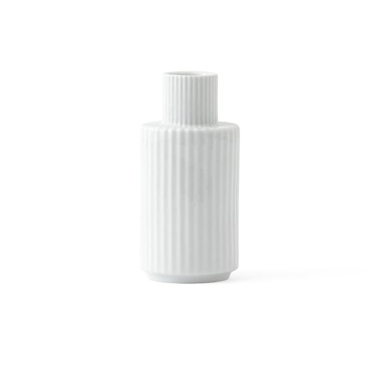 Lysestage H 11 cm af Lyngby Porcelæn i hvid