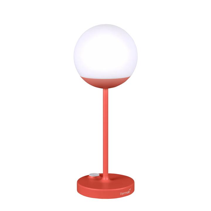 Mooon! batteridrevet LED-lampe H 40 cm fra Fermob i orangerød