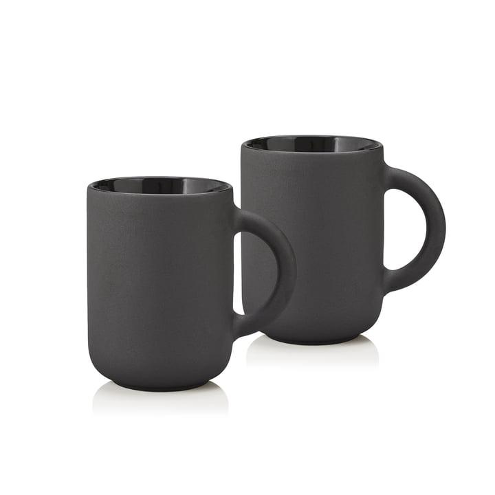 Stelton – Theo krus 0,35 l, sort (sæt med 2 stk.)