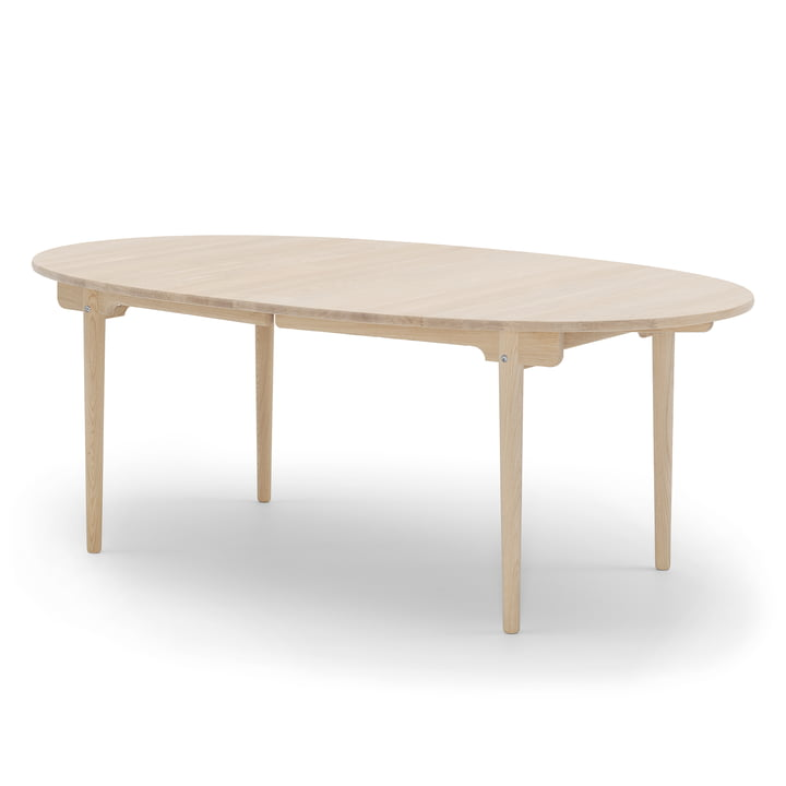 Carl Hansen – CH338 spisebord med udtræk, 200 x 115 cm, ludbehandlet eg