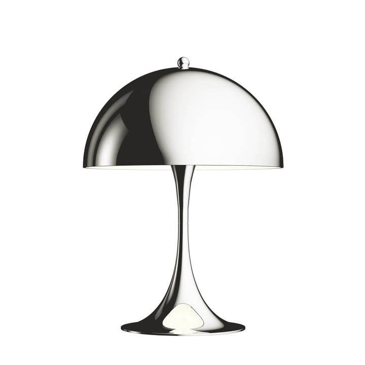Louis Poulsen - Panthella mini bordlampe Ø 25 cm, højglans forkromet