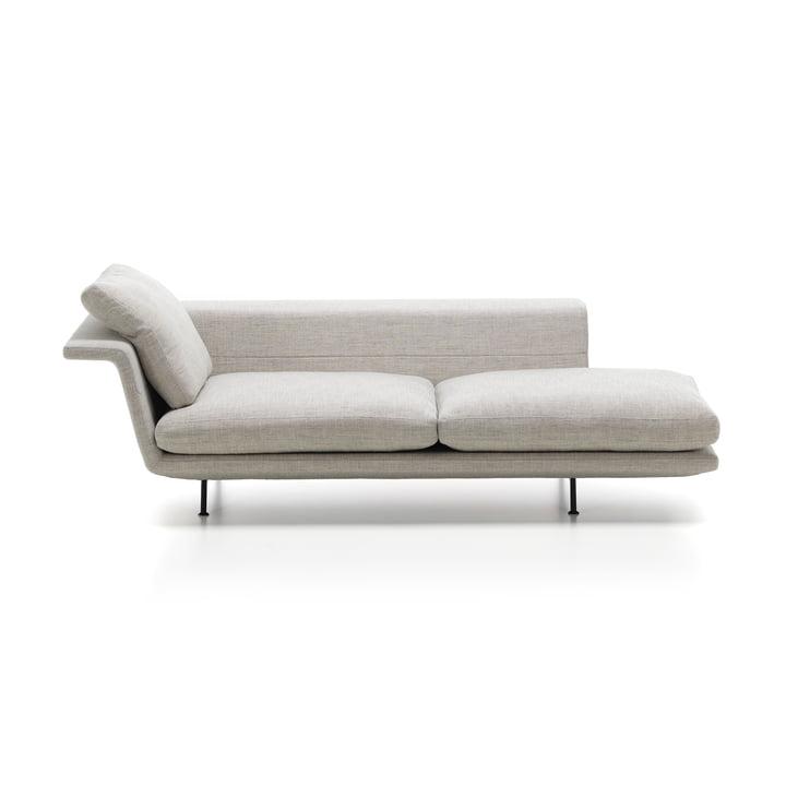 Grand sofa af Vitra som en chaiselong uden knapper i beige