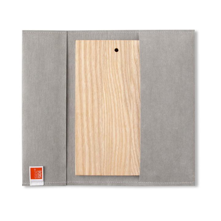 side by side – udendørs skærebræt, 23,5 x 13 cm, gråt cover