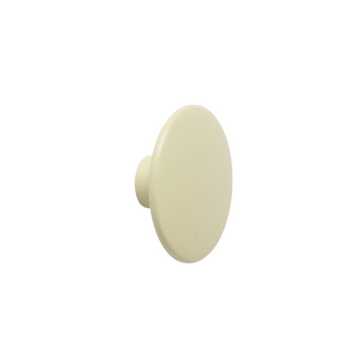 """Vægkrok """"The Dots"""" single small af Muuto i beige-grøn"""